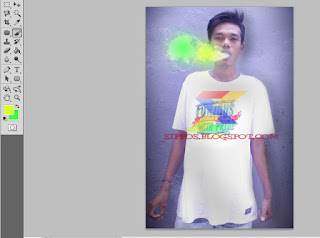 cara mudah membuat efek asap rokok berwarna dengan photoshop