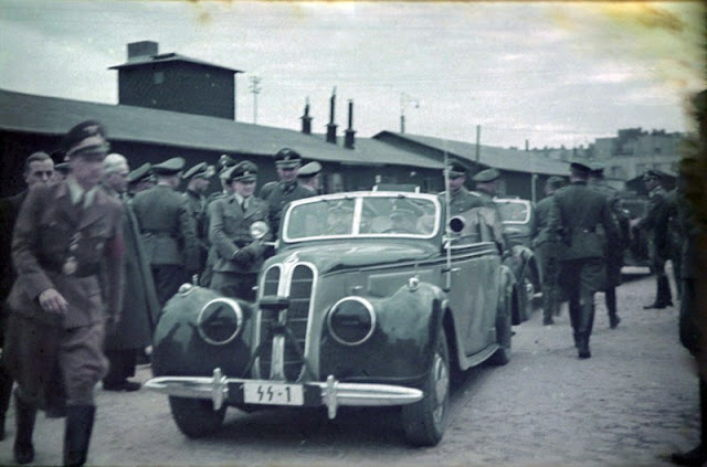 Heinrich Himmler arrives at Lodz Ghetto 5 June 1941 worldwartwo.filminspector.com