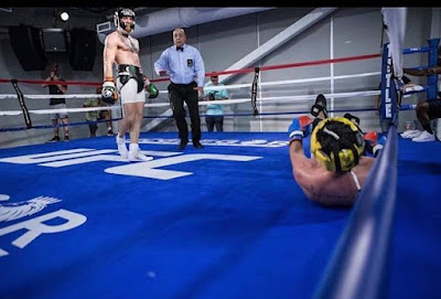 Connor McGregor sparring with Malignaggi leaked photo