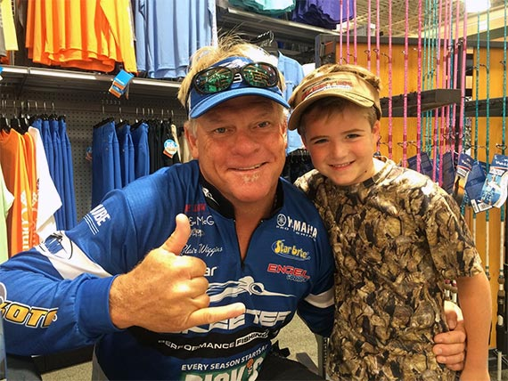Capt Blair Wiggins with Young Fan