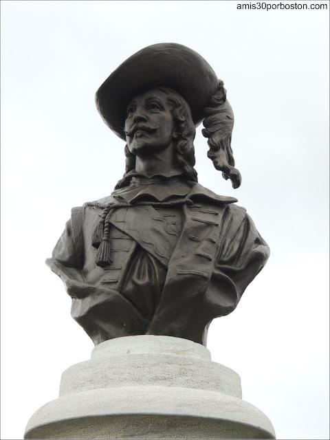 Busto de Pierre Dugua de Mons en la Ciudad de Quebec