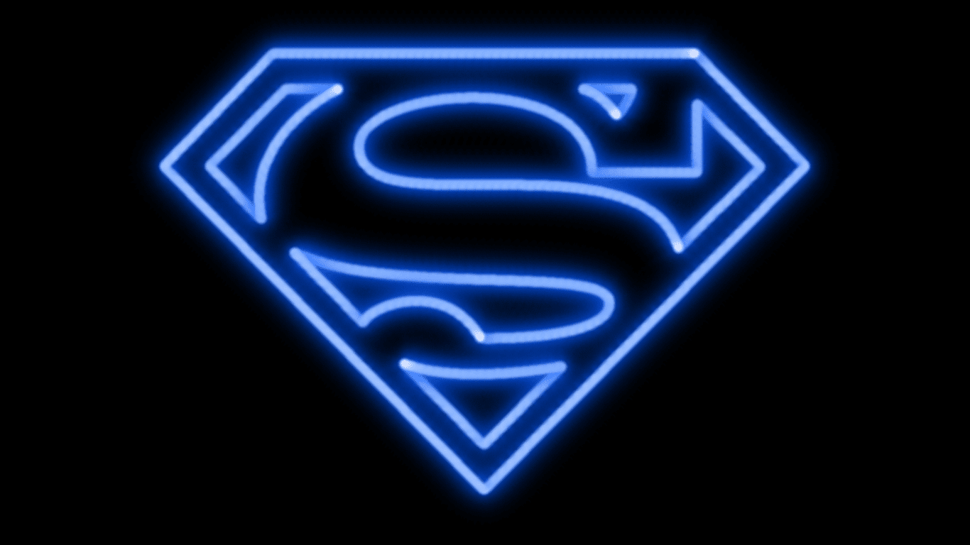 Neon Wallpapers for Android - Neon Superman Wallpaper