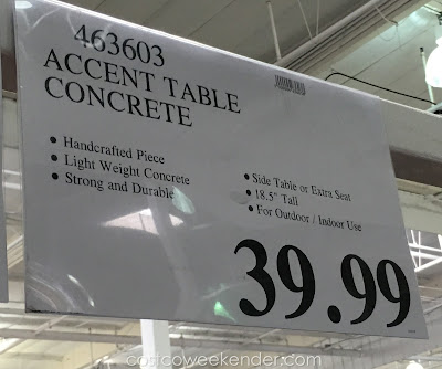 Deal for the Lightweight Concrete Accent Table at Costco