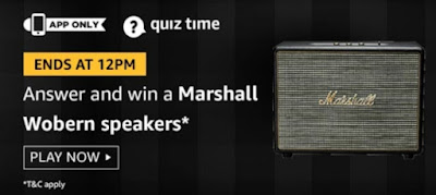 Amazon Quiz 11 October 2019