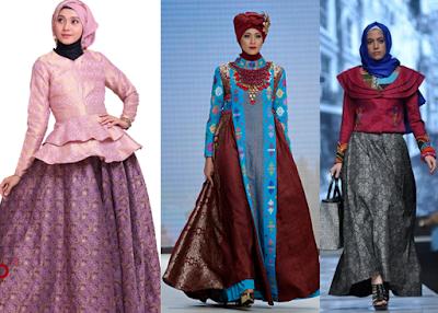 Gamis Batik Kombinasi Dian Pelangi