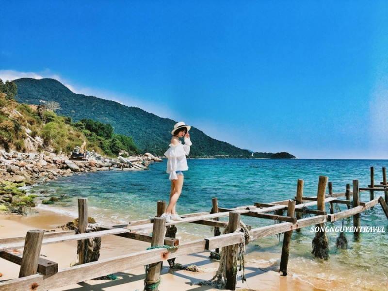 Checkin cầu gỗ - Tour Cù Lao Chàm