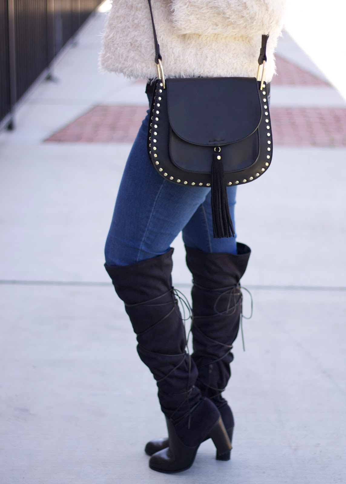 Shoedazzle rayne boots, over the knee boots under $100, over the knee boots under $50, shoedazzle blogger, laced over the knee boots