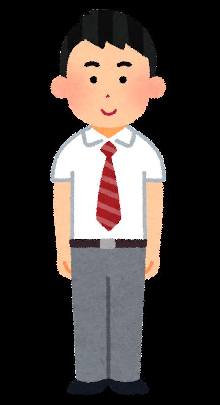 ブレザーを着た男子学生のイラスト 夏服 学生服 かわいいフリー素材集 いらすとや