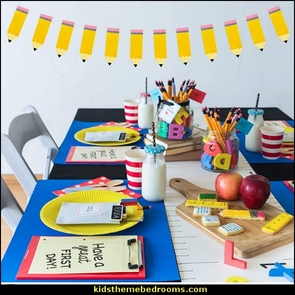 Pencil Banner Pencil Garland Kindergarten Banner Classroom Decor Pencil Party Decorations  Back to School Party Decorations