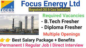 Focus Energy Ltd. is looking to hire B.Tech/Diploma - Mechanical and Electrical freshers Permanent Jobs For Graduate Engineer Trainee Post