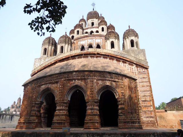 The Krishna Chandraji Temple dedicated to Krishna and Radha, Kalna Rajbari Temple complex, West Bengal