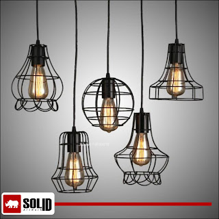 mini wire frame light pendant lamp