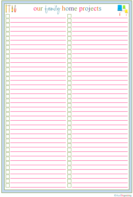 free printable checklist templates Kenicandlecomfortzonecom