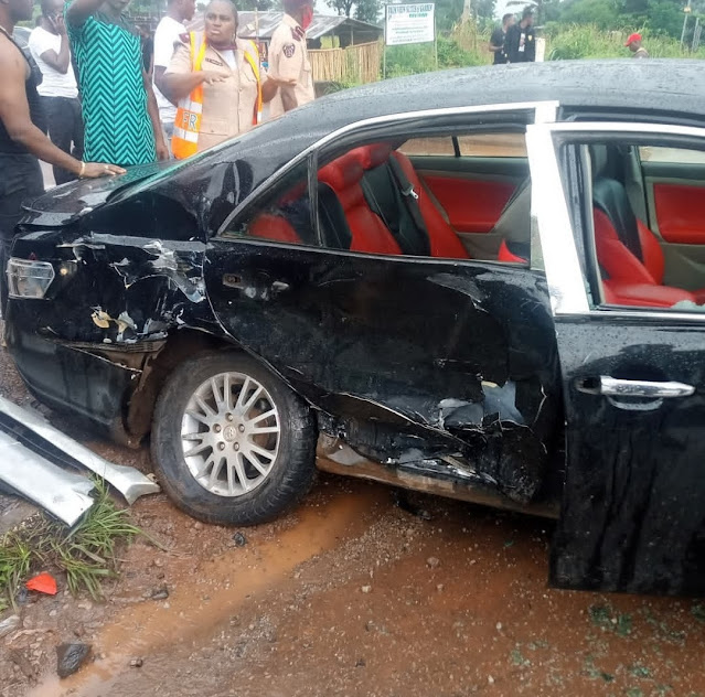 Actress Destiny Etiko and her Colleagues survives Car Accident on their way coming back from Late Actor Stanley Okoro burial (Videos/Photos)