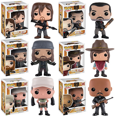 The Walking Dead TV Season 7 Pop! Vinyl Figures by Funko – Daryl, Negan, Jesus, Carl Grimes, Father Gabriel & Rosita