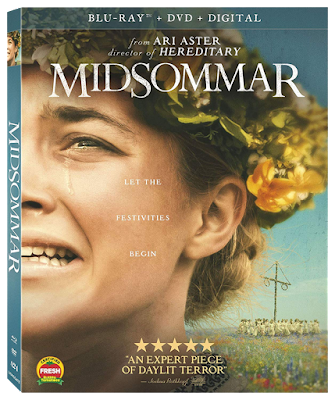 Bluray cover for Ari Aster's MIDSOMMAR.
