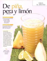 Jugos saludables piña pera y limon