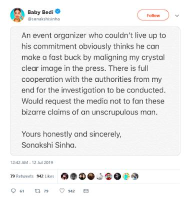 Sonakshi Sinha tweet