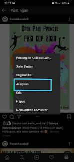 Cara Mengarsipkan Semua Postingan Instagram 3