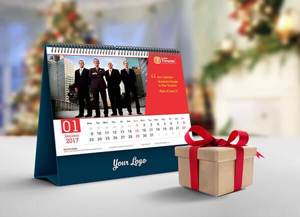 Mockup PSD Kalender 2019 Terbaru - Free Desk Calendar Mockup PSD