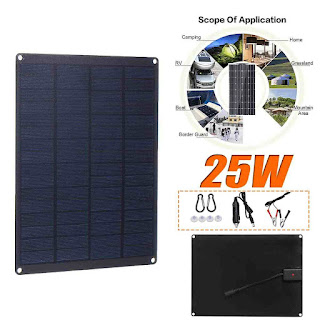 Leory Solar Cell Charger 12V 25W Output