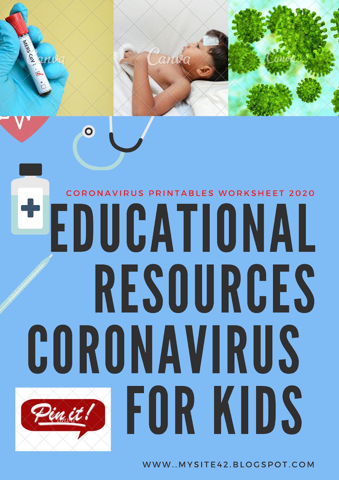 Educational Resources Coronavirus  for Kids Printables Worksheet 2020