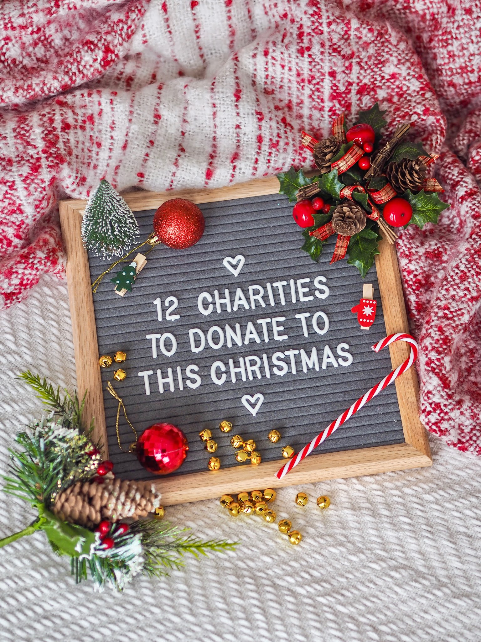 2 Charities To Donate To This Christmas 2020, UK Charities, Charity Support, Charity Donations, Katie Kirk Loves, UK Blogger, Christmas Flatlay, Letterboard Flatlay
