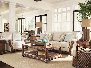 beautiful tropical living room furniture