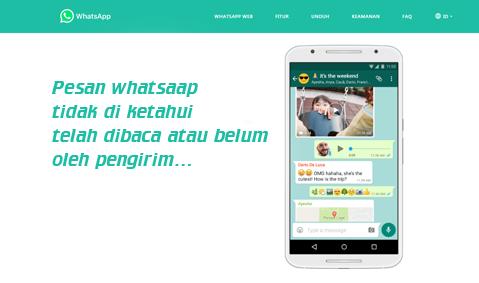 Cara membuat pengirim pesan whatsap tidak mengetahui chat telah terbaca atau belum