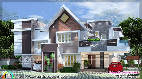 Fusion model villa type A rendering