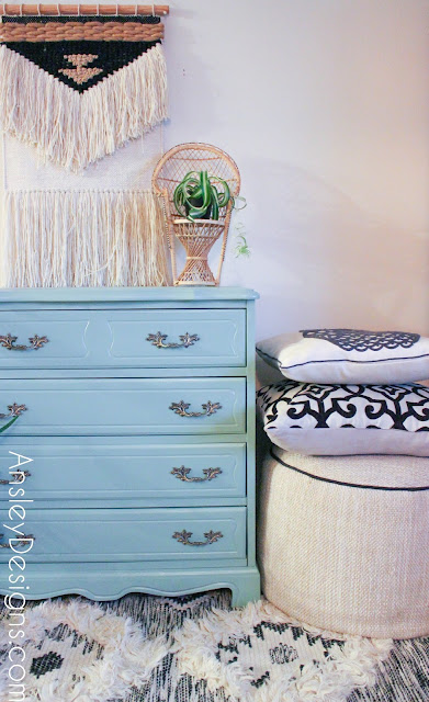 Mint Green French Provincial Dresser