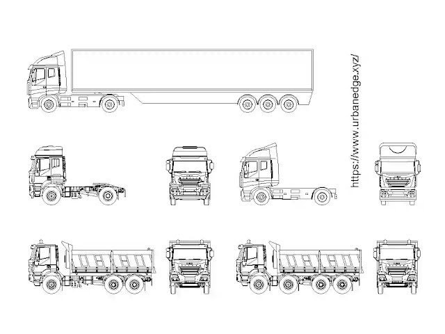 Truck elevation cad blocks free download - 5+ Truck Dwg Models