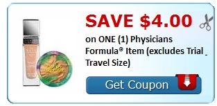 $4.00/1 Physician's Formula Cosmetics NLA. exp 7/31.