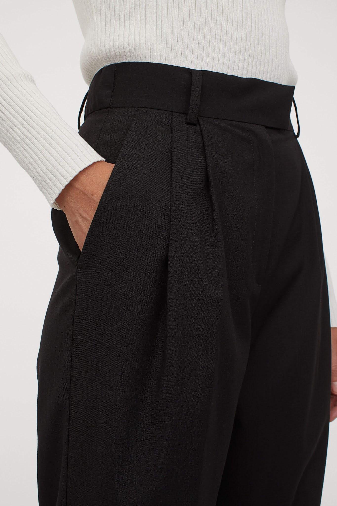 black creased pants