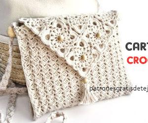 Bolso elegante tejido con ganchillo - con diagramas