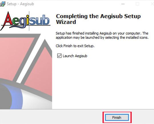 Hướng dẫn cài đặt phần mềm Aegisub c