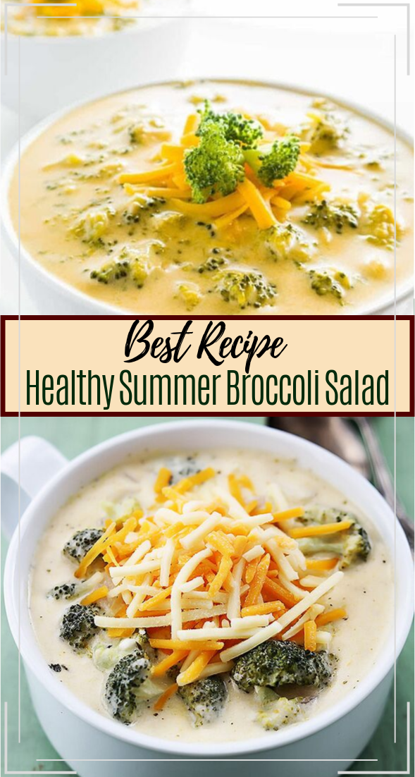 Easy Keto Broccoli Cheese Slow Cooker Soup #healthyfood #dietketo #breakfast #food