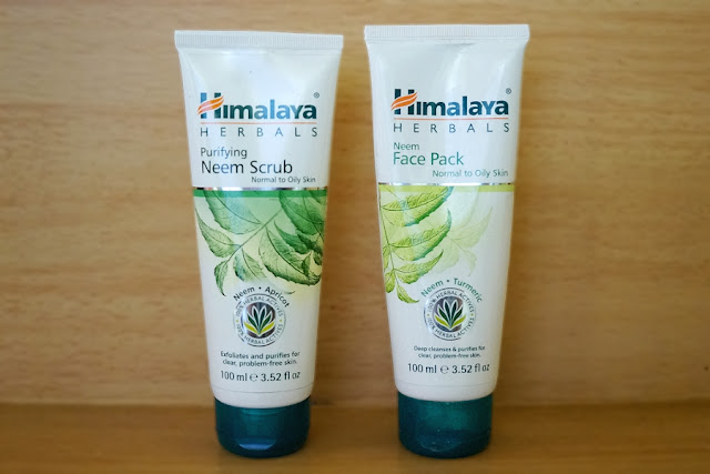 Himalaya Herbals Purifying Neem Scrub and Neem Face Pack