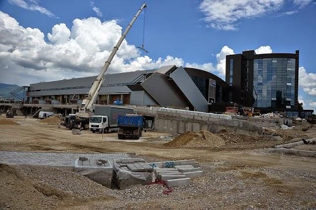 Neues Sportzentrum Jane Sandanski und Hotel Russia in Aerodrom - Eröffnung im August