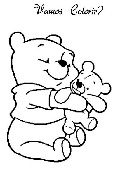 Baú Da Web Ursinho Pooh Baby Desenhos Para Colorir