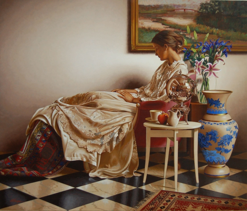 11-The-Muse-of-Spring-Mark-Thompson-Photo-Realistic-Still-Life-Paintings-www-designstack-co