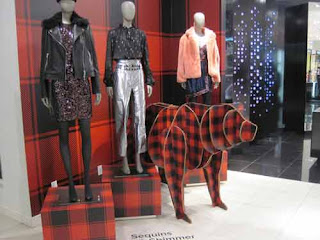 A Plaid Bear Inside The Bay Queen Street.