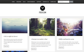 Perish Grid Blogger Template