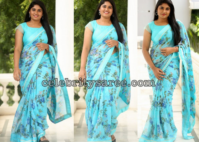 Sonia Chowdary Floral Saree