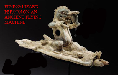 Lizard people or Lizard hybrids flying vehicles and or machines that fly.
