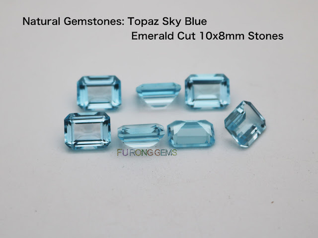 Natural-Topaz-Sky-Blue-Emerald-Cut-10x8mm-gemstones wholesale