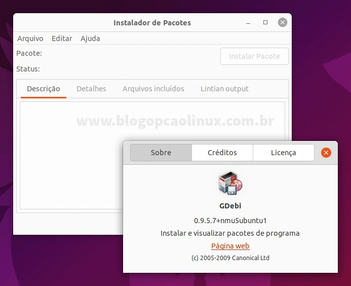 Como instalar o GDebi no Ubuntu 21.10 (Impish Indri)