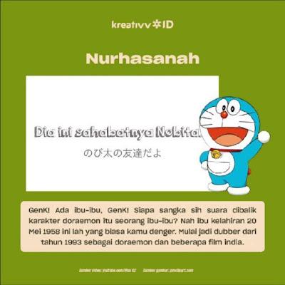 Dubber Legend Indonesia Nurhasanah