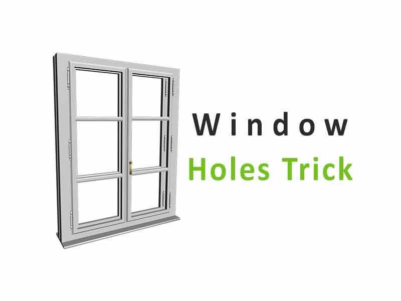 cara melubangi jendela sketchup