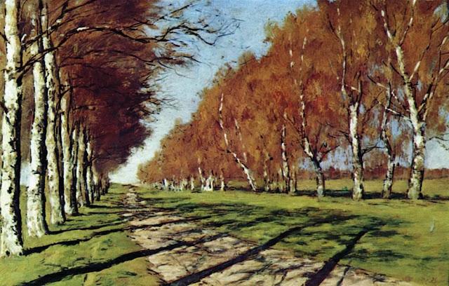 Исаак Ильич Левитан - Большая дорога. Осенний солнечный день. 1897